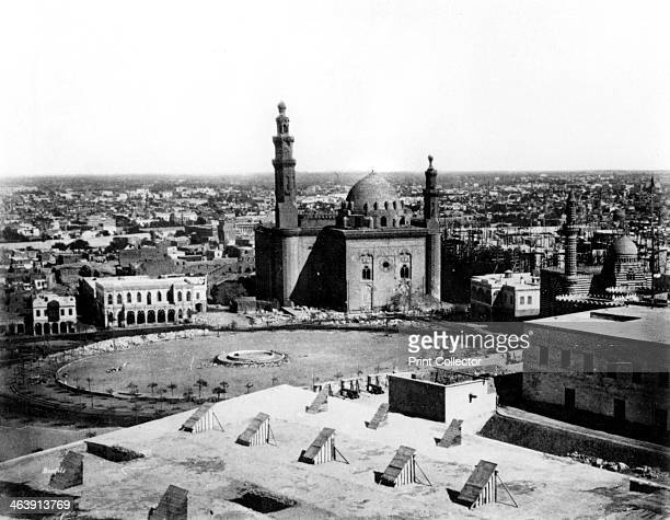 General view of Cairo Egypt 1878 View showing the Sultan Hassan Mosque built in the mid 14th century From Album of Photographs Egypt by Felix Bonfils...