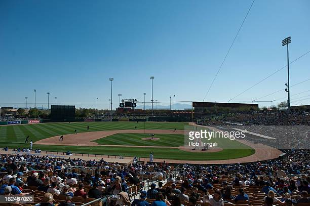 A general view of Camelback Ranch Field during a spring training game between the Los Angeles Dodgers and the Chicago White Sox at Camelback Ranch on...