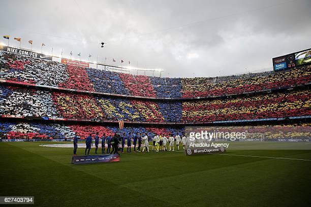 A general view of Camp Nou Stadium ahead of the La Liga football match between FC Barcelona and Real Madrid CF at Camp Nou Stadium in Barcelona Spain...