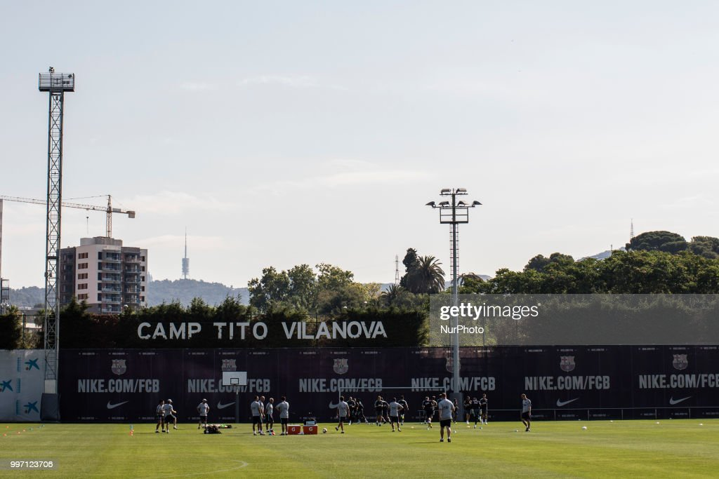 General view of Camp Tito Vilanova during the first FC Barcelona training session of the 2018/2019 La Liga pre season in Ciutat Esportiva Joan Gamper, Barcelona on 11 of July of 2018.