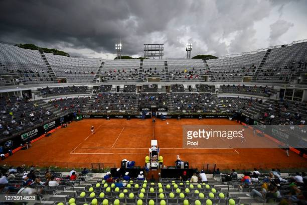 General view of Campo Centrale during the men's final match between Novak Djokovic of Serbia and Diego Schwartzman of Argentina during day eight of...