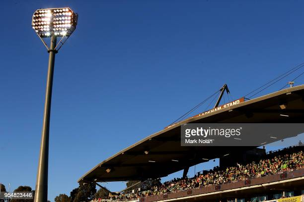 General view of Canberra Stadium during the round nine NRL match between the Canberra Raiders and the Gold Coast Titans at GIO Stadium on May 5, 2018...