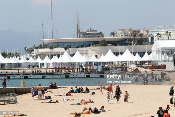 General view of Cannes on May 6 2011 in Cannes France
