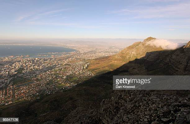 A general view of Cape Bay from Table Mountain ahead of the 2010 FIFA world Cup on October 22 2009 in Cape Town South Africa