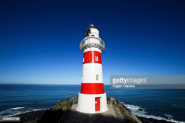 A general view of Cape Palliser lighthouse on June 5 2016 in Wairarapa New Zealand