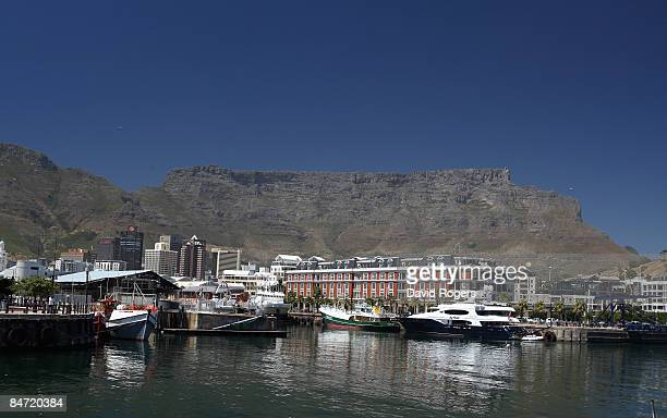 A general view of Cape Town Harbour on February 6 2009 in Cape Town South Africa