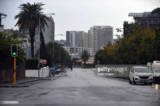 A general view of Cape Town on Day Twelve of National Lockdown on April 07 2020 in Cape Town South Africa According to media reports President...
