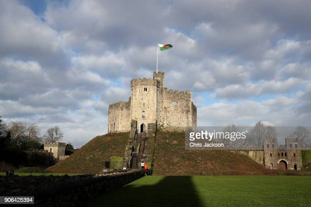 General view of Cardiff Castle ahead of a visit from Prince Harry and his fiancee Meghan Markle on January 18 2018 in Cardiff Wales