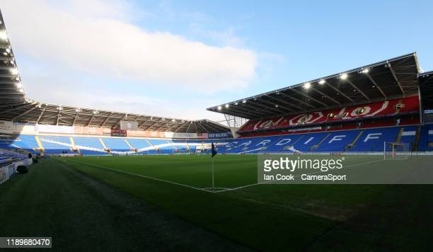 A general view of Cardiff City Stadium home of Cardiff City / Wales during the Sky Bet Championship match between Cardiff City and Preston North End...