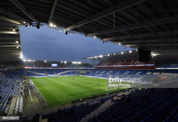 A general view of Cardiff City Stadium prior to kick off of the Sky Bet Championship match between Cardiff City and Leeds United at The Cardiff City...