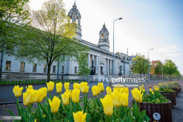 A general view of Cardiff Crown court on April 19 2020 in Cardiff United Kingdom