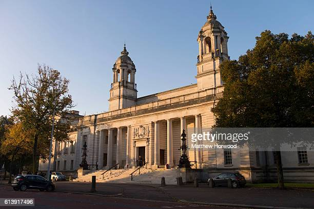 A general view of Cardiff Crown Court where Ched Evans is standing retrial for rape on October 11 2016 in Cardiff Wales The former Wales striker was...