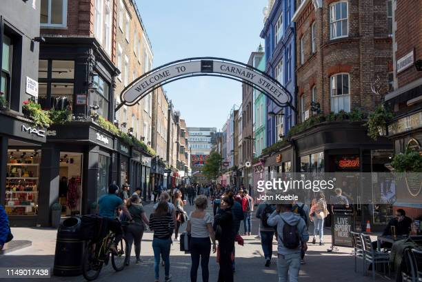 A general view of Carnaby Street on May 13 2019 in London England
