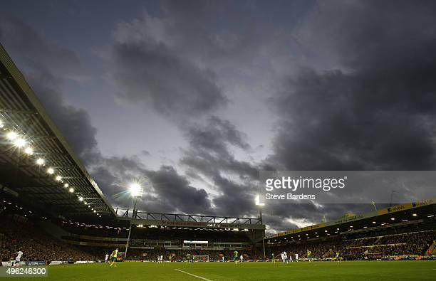 General view of Carrow Road during the Barclays Premier League match between Norwich City and Swansea City at Carrow Road on November 7 2015 in...