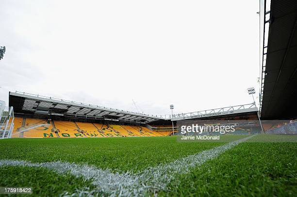 A general view of Carrow Road during the preseason friendly match between Norwich City and Panathinaikos at Carrow Road on August 10 2013 in Norwich...