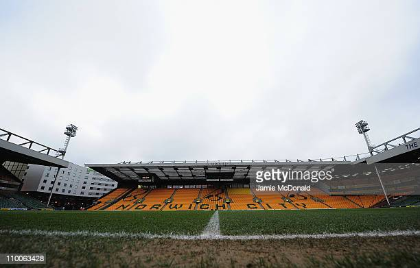 A general view of Carrow Road home of Norwich City Football Club on March 14 2011 in Norwich England
