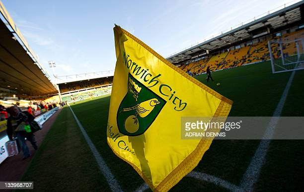 A general view of Carrow Road stadium ahead of the Norwich City versus Arsenal game during the English Premier League football match at Carrow Road...