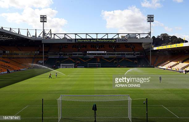 A general view of Carrow Road stadium home of Norwich City FC ahead of the game against West Bromwich Albion on September 11 2011 USE No use with...