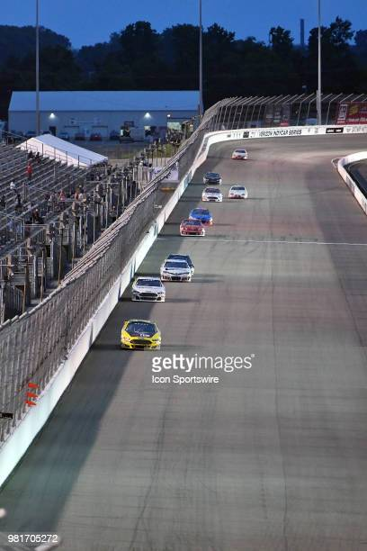 A general view of cars on the front stretch during the ARCA Racing Series PapaNicholas Coffee 150 on June 22 at Gateway Motorsports Park Madison IL