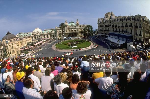 General view of Casino Square during the Monaco Grand Prix at the Monte Carlo circuit in Monaco. \ Mandatory Credit: Pascal Rondeau/Allsport