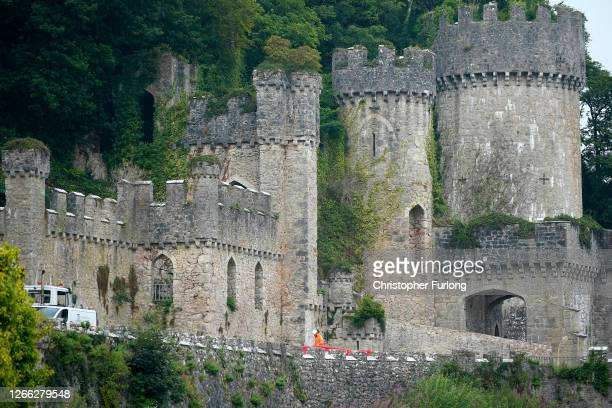 General view of Castell Gwyrch on August 14, 2020 in Abergele, Wales. Gwyrch Castle is rumoured to be the setting for this year's ITV reality TV show...