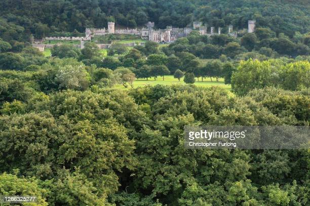 """General view of Castell Gwyrch on August 14, 2020 in Abergele, Wales. Gwyrch Castle rumoured to be the set of this year's ITV reality TV show """"I'm A..."""