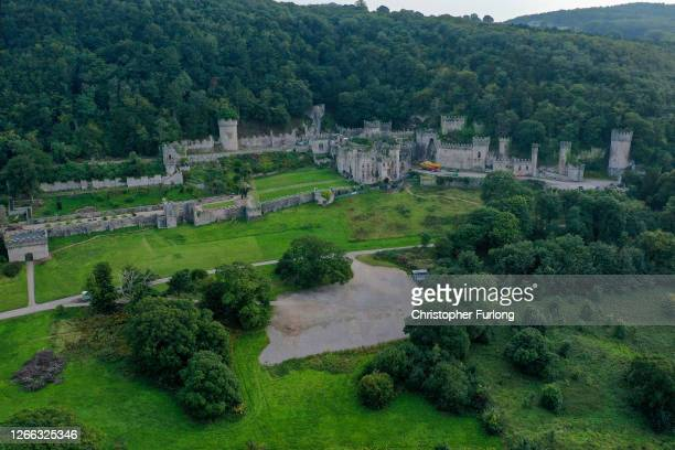 "General view of Castell Gwyrch on August 14, 2020 in Abergele, Wales. Gwyrch Castle rumoured to be the set of this year's ITV reality TV show ""I'm A..."