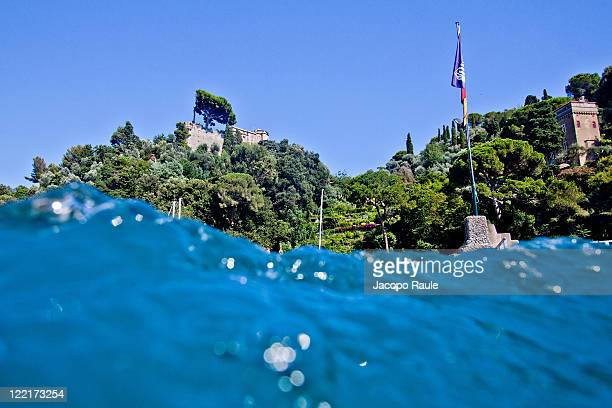 General view of Castello Brown from the sea on July 28 2011 in Portofino Italy