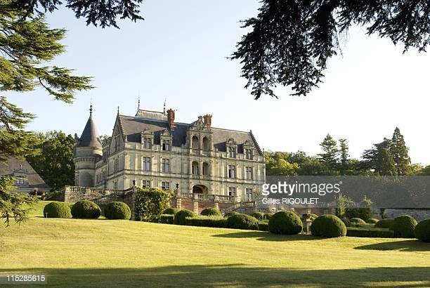 General view of Castle de la Bourdaisiere on August 2009 in Montlouis sur Loire, France. Conservatory of Tomato Grows 650 varieties of tomatoes from...