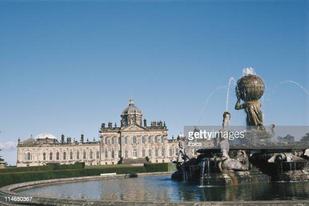 A general view of Castle Howard one of Britain's finest Baroque mansions and home to the Howard family for over 300 years North Yorkshire England...