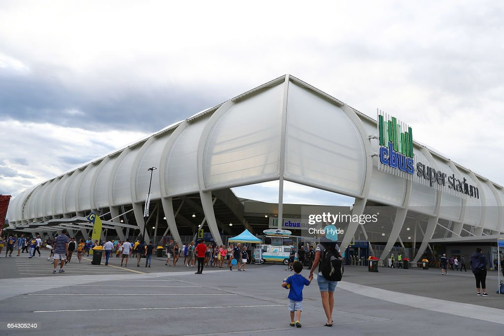 General view of Cbus Super Stadium before the round three NRL match between the Gold Coast Titans and the Parramatta Eels at Cbus Super Stadium on March 17, 2017 in Gold Coast, Australia.