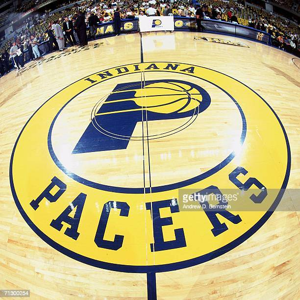 General view of center court during Game Three of the 2000 NBA Finals between the Los Angeles Lakers and the Indiana Pacers played June 11 2000 at...