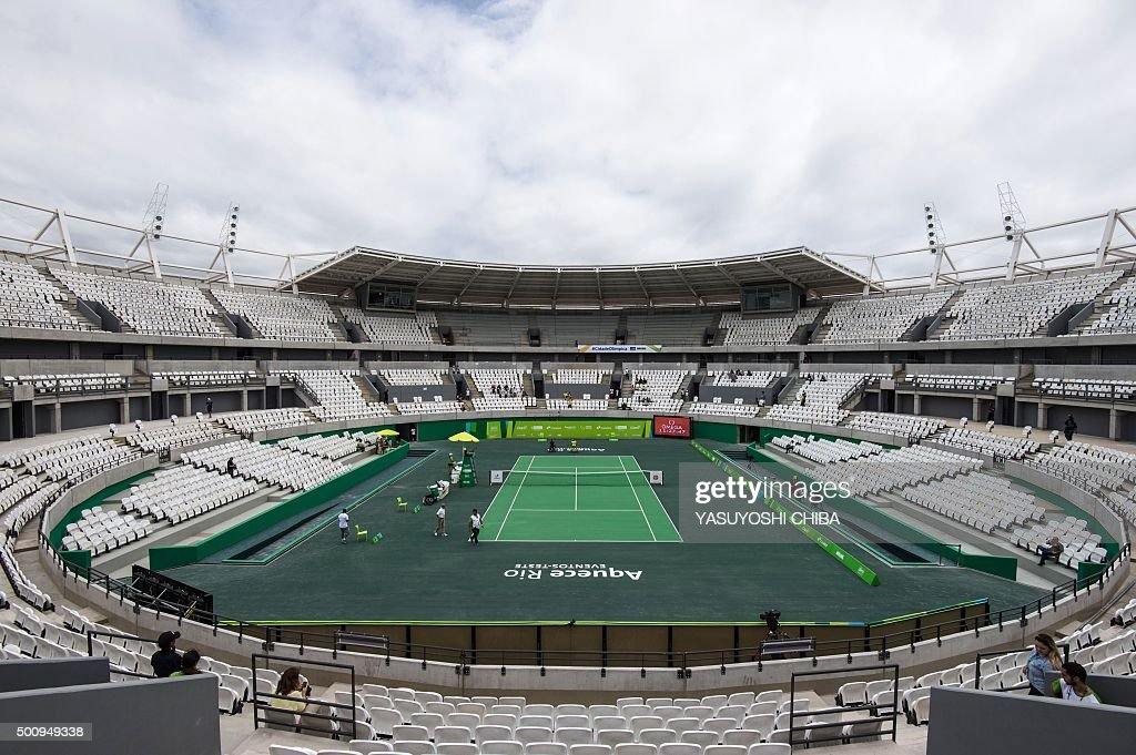 OLY-2016-RIO-TENNIS-OLYMPIC PARK-TEST EVENT : News Photo