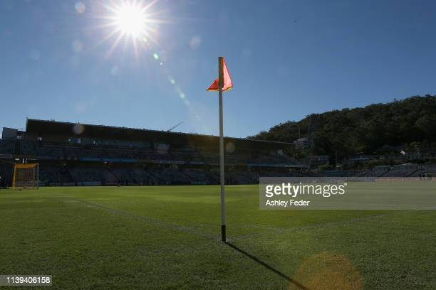General View of Central Coast Stadium during the round 23 ALeague match between the Central Coast Mariners and Adelaide United at Central Coast...