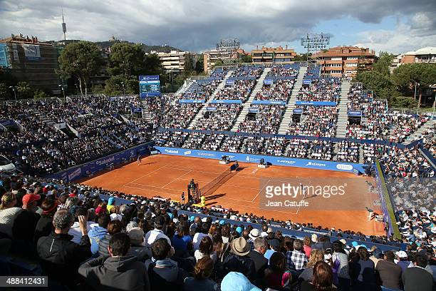 General view of Central Court during the ATP Tour Open Banc Sabadell Barcelona 2014 62nd Trofeo Conde de Godo at Real Club de Tenis Barcelona on...