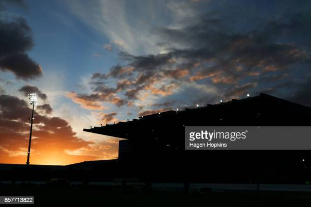 General view of Central Energy Trust Arena during the round eight Mitre 10 Cup match between Manawatu and Counties Manukau at Central Energy Trust...