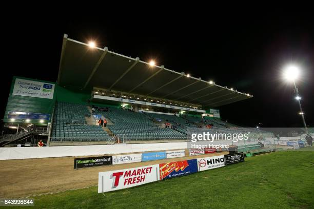 General view of Central Energy Trust Arena during the round four Mitre 10 Cup match between Manawatu and Bay of Plenty at Central Energy Trust Arena...
