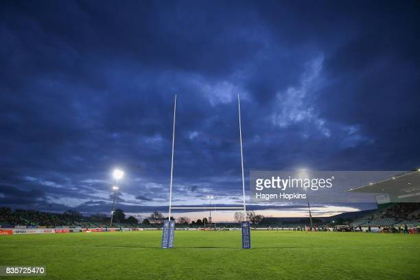 General view of Central Energy Trust Arena during the round one Mitre 10 Cup match between Manawatu and Wellington at Central Energy Trust Arena on...