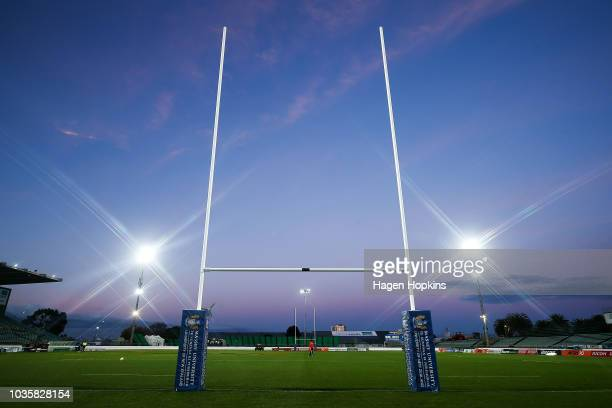 A general view of Central Energy Trust Arena during the round six Mitre 10 Cup match between Manawatu and Tasman at Central Energy Trust Arena on...