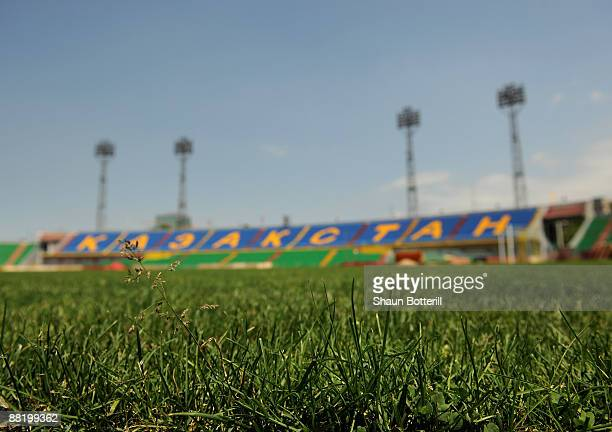 A general view of Central Stadium on June 4 2009 in Almaty Kazakhstan The World Cup qualifier match between England and Kazakhstan will be played at...