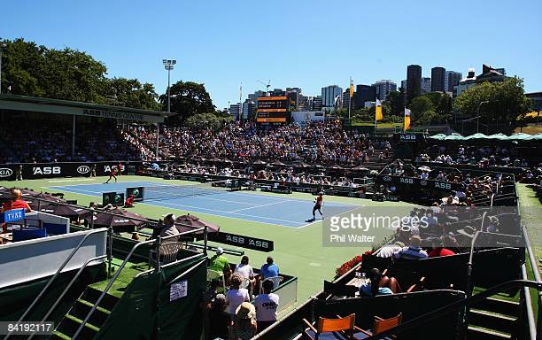 A general view of centre court action during day three of the ASB Classic at ASB Tennis Centre on January 7 2009 in Auckland New Zealand