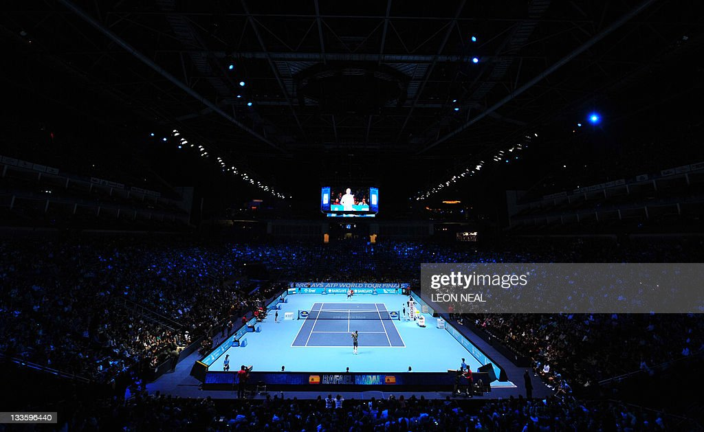 A general view of centre court at the O2 : News Photo