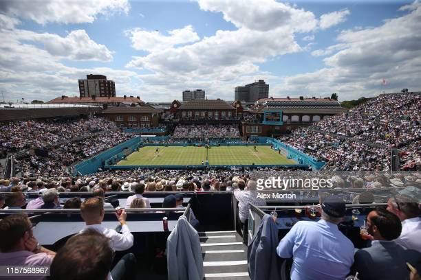 General view of centre court during day 5 of the Fever-Tree Championships at Queens Club on June 21, 2019 in London, United Kingdom.