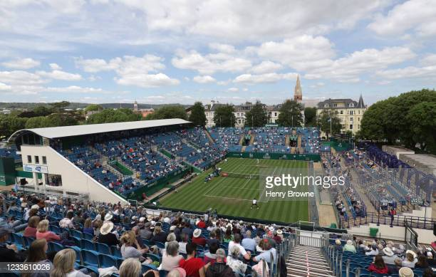 General view of centre court during day 5 of the Viking International Eastbourne at Devonshire Park on June 23, 2021 in Eastbourne, England.
