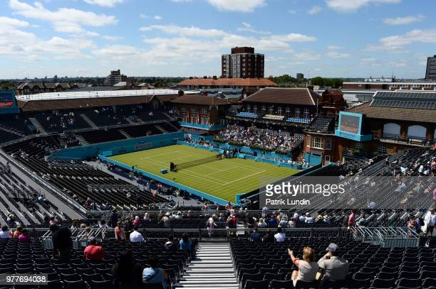 A general view of centre court during day one of the FeverTree Championships at Queens Club on June 18 2018 in London United Kingdom