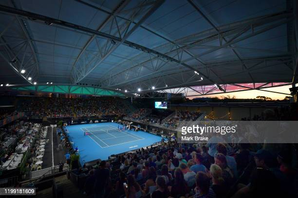 General view of centre court during day two of the 2020 Adelaide International at Memorial Drive on January 13 2020 in Adelaide Australia