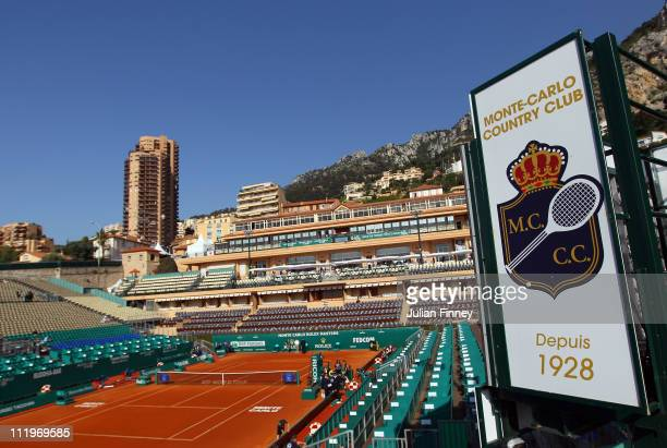 General view of centre court during Day Two of the ATP Masters Series Tennis at the Monte Carlo Country Club on April 11, 2011 in Monte Carlo, Monaco.