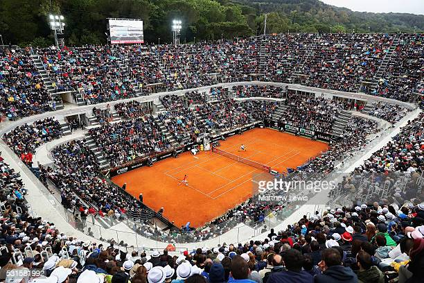A general view of centre court during Novak Djokovic of Serbia and Andy Murray of Great Britain during the Mens Singles Final during day eight of The...