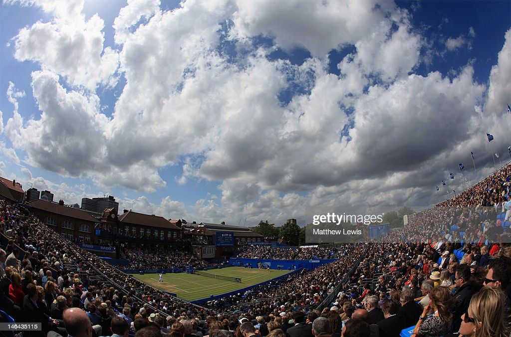 A general view of Centre Court during the mens singles semi-final match between Marin Cilic of Croatia and Sam Querrey of the USA on day six of the AEGON Championships at Queens Club on June 16, 2012 in London, England.