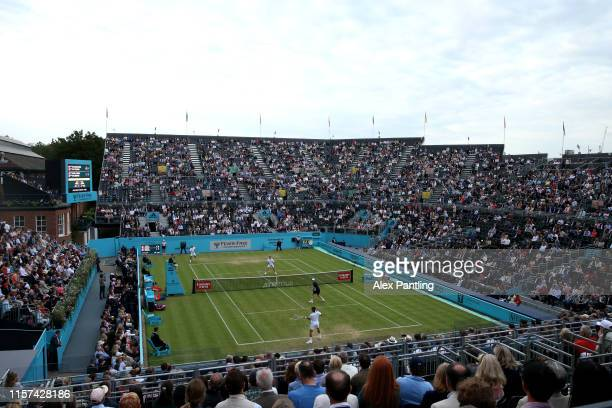 General view of centre court during the Quarter-Final Doubles Match between Andy Murray of Great Britain, partner of Feliciano Lopez of Spain against...